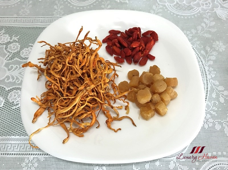 tcm hockhua tonic cordyceps militaris conpoy wolfberries recipe