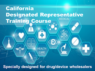 California Designated Representative Training Courses (approved by the California State Board of Pharmacy) - for wholesalers
