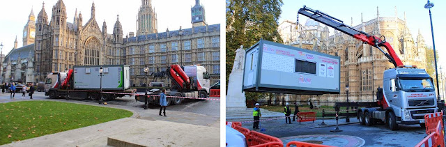PKL kitchen being delivered to the House of Commons for NSMW