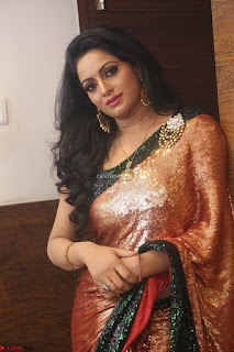 Udaya Bhanu lookssizzling in a Saree Choli at Gautam Nanda music launchi ~ Exclusive Celebrities Galleries 101.JPG