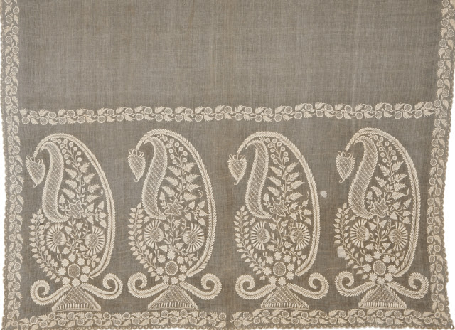 Indian chikankari or chikan embroidery
