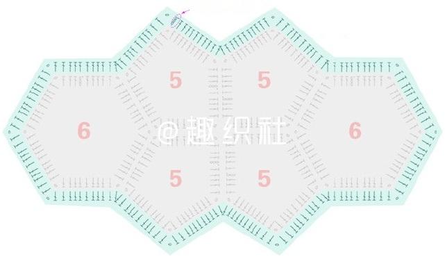 Схема сборки и обвязки края накидки