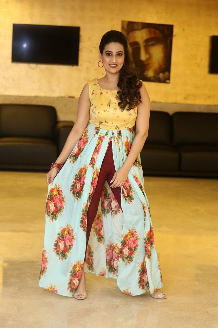 Indian TV Anchor Manjusha at RDX Love Movie Pre Release Function