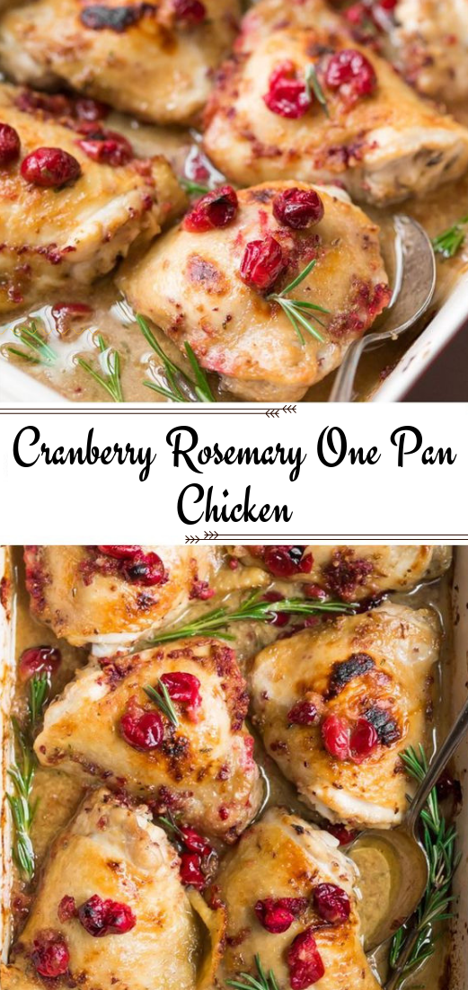 Cranberry Rosemary One Pan Chicken #Paleo, #Whole30Option