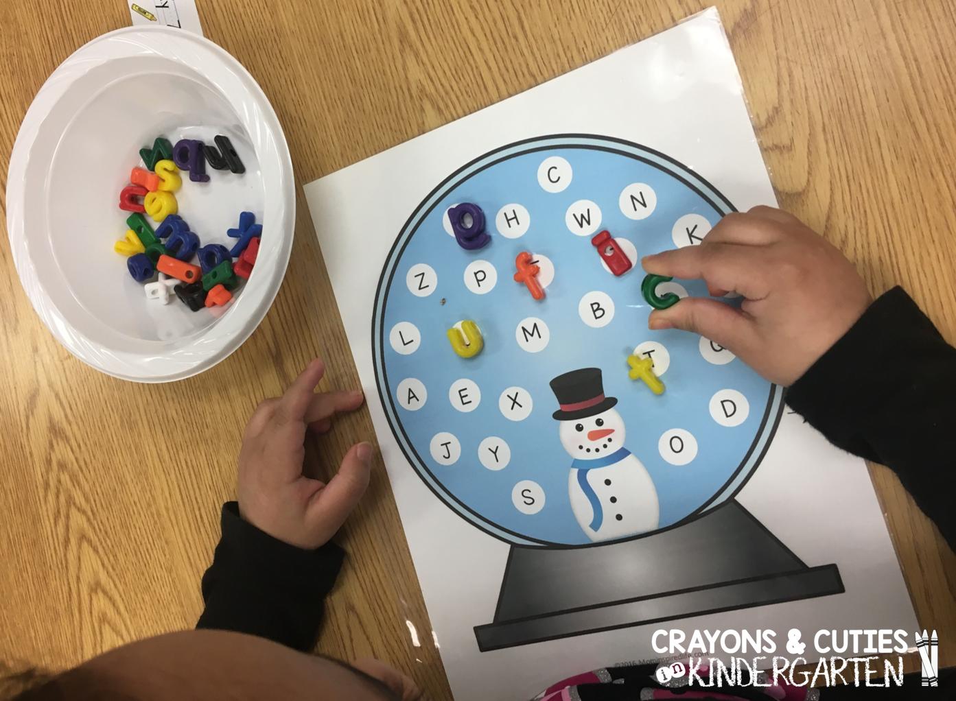Crayons Amp Cuties In Kindergarten Winter Alphabet Activities