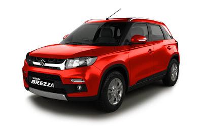 Maruti Suzuki Vitara Brezza red color