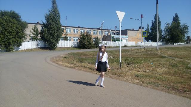 Настя и школа