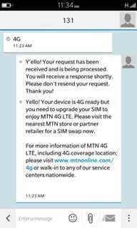 MTN free 4GB reward including 25% 4G bonus for 3 months 3