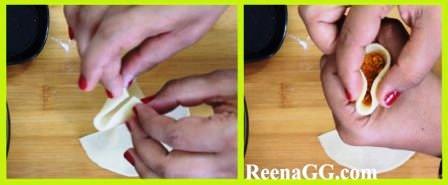 Moong Dal Mini Samosa Recipe step 4
