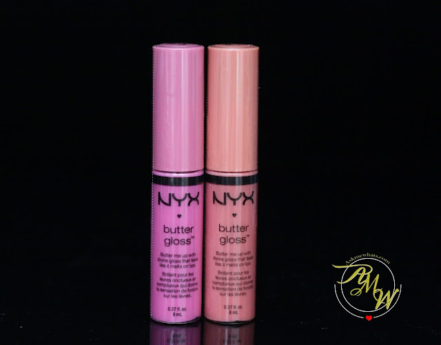 a photo of NYX Butter Gloss Review in Creme Brulee and Merengue.