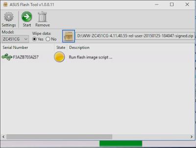 Cara Flash Asus Zenfone C Z007 (ZC451CG)