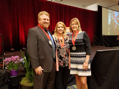 Photo of Rick Kemp, Jennifer Shantz and Angelz Felix at 2017 League of Innovation ceremony.