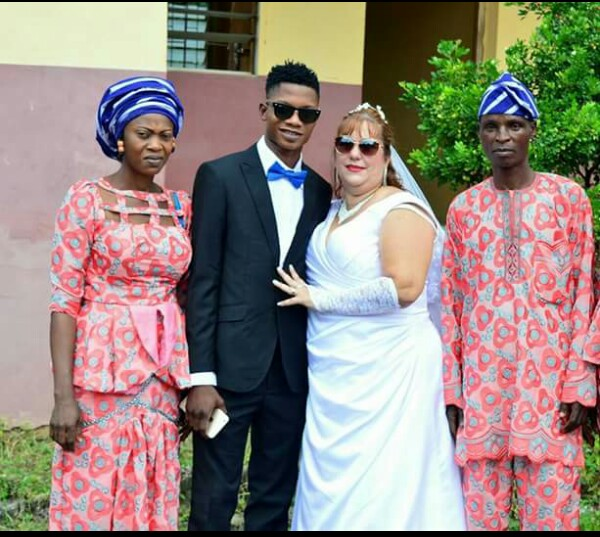 Young Nigerian man and his older British wife enjoy their