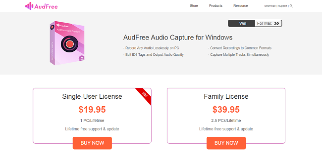 AudFree Audio Capture Pricing