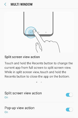 Enable split-screen view action