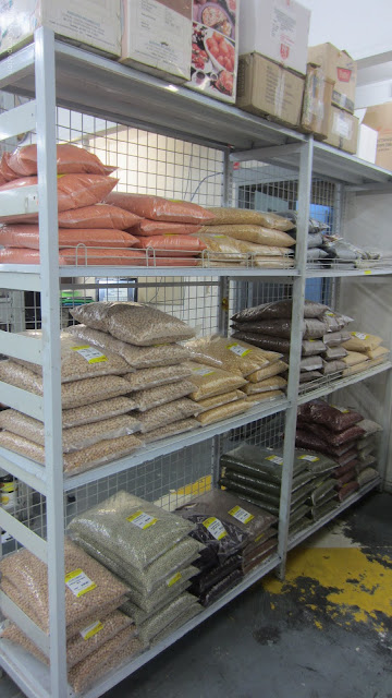 Bags of dried legumes at Udaya Supermarket Wentworthville