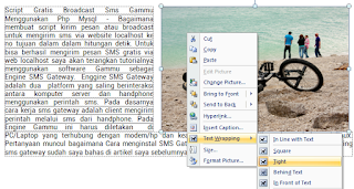 Gambar di Kanan  Microsoft Word