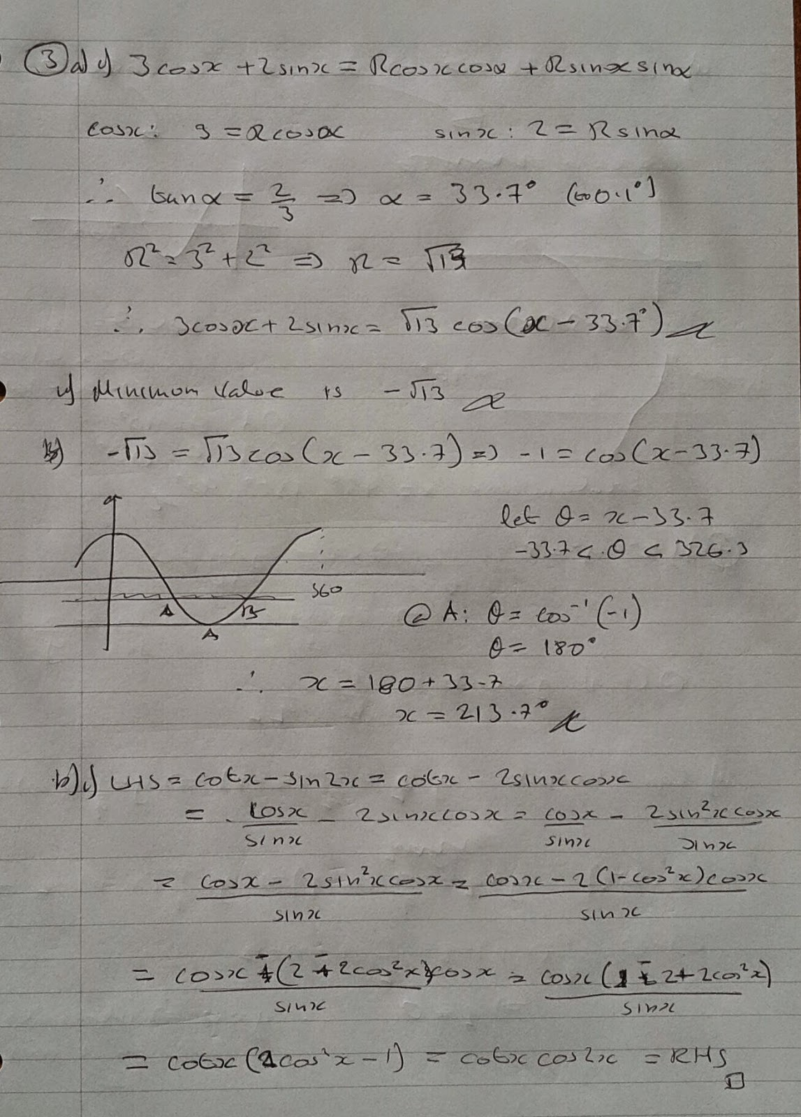 A Level Maths Notes: AQA Core 4 Winter 2013 Exam Paper