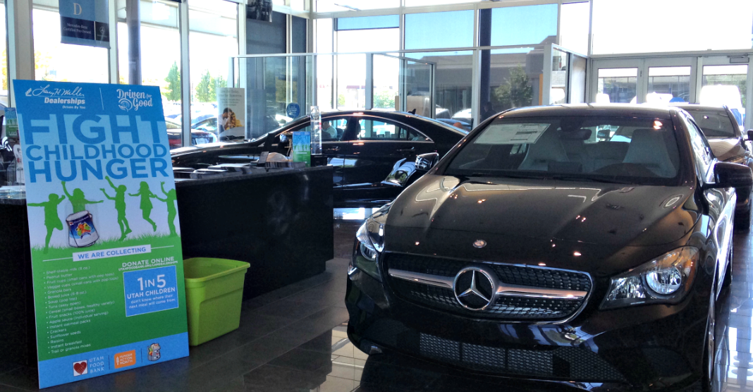 Utah child hunger donation campaign mercedes benz of draper for Mercedes benz of lindon lindon ut