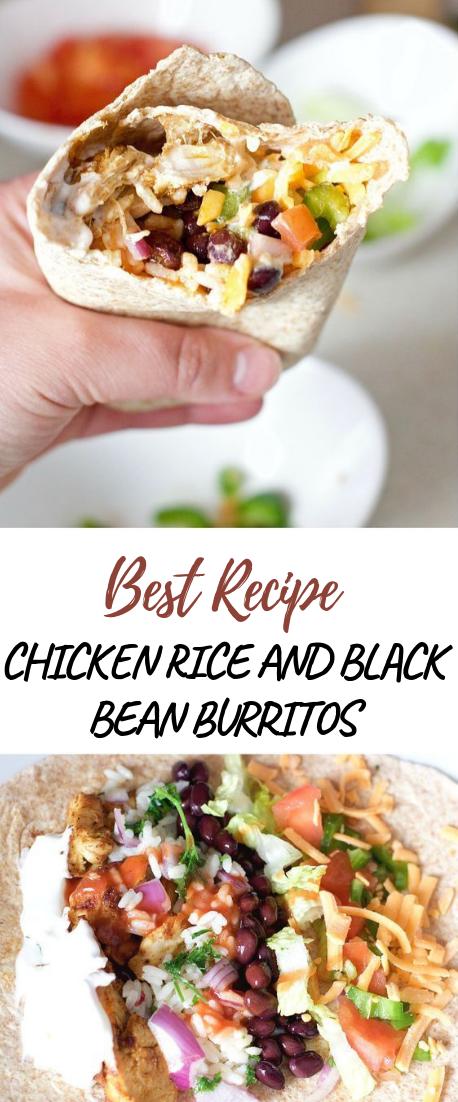 CHICKEN RICE AND BLACK BEAN BURRITOS #healthyfood #dietketo