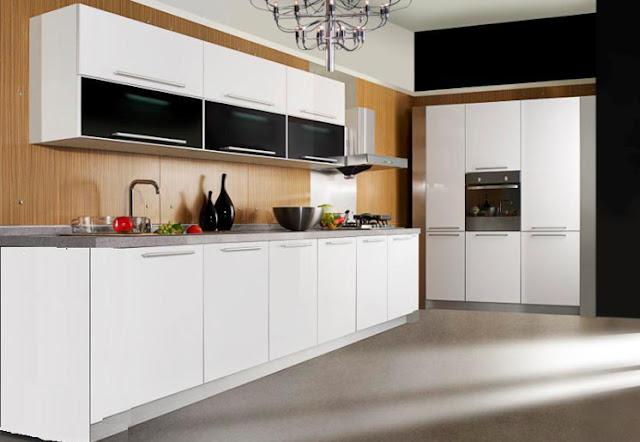 Tủ bếp chất liệu VÁN MFC - MDF