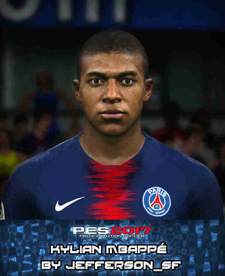PES 2017 Faces Kylian Mbappé by FaceEditor Jefferson_SF
