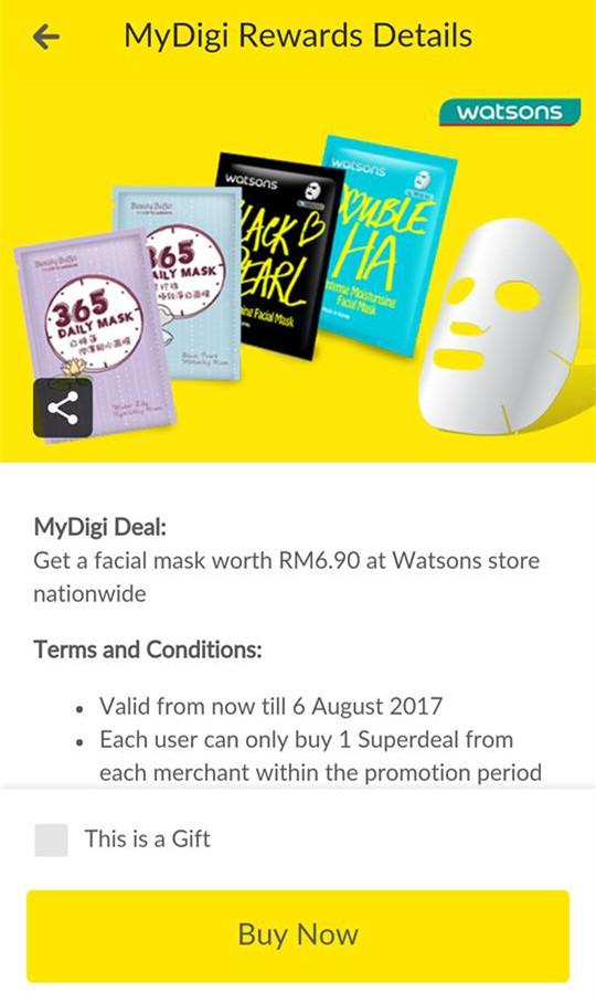 面膜原价RM6.90,如今只需RM2.99