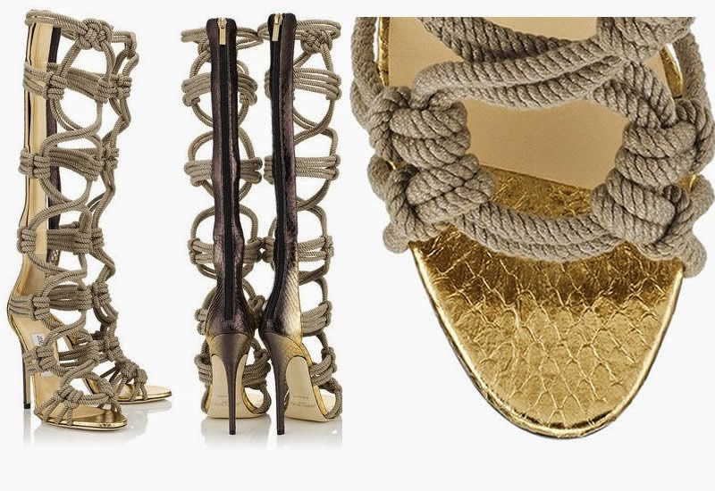 04f2c0a85ec8 The Gorgeous Jimmy Choo Keane Braided Rope Sandal Boots. Buy your here