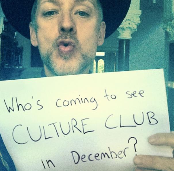 Boy George demande qui viendra voir Culture Club en décembre 2014 ?