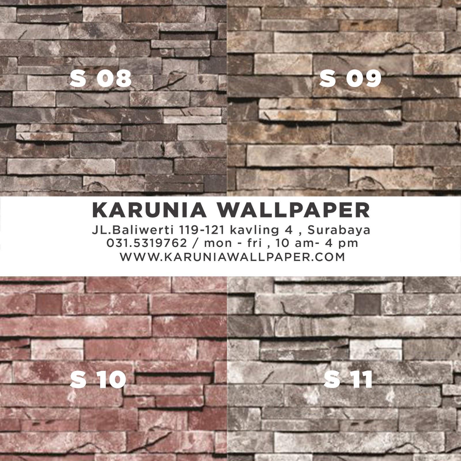 wallpaper dinding batu bata surabaya