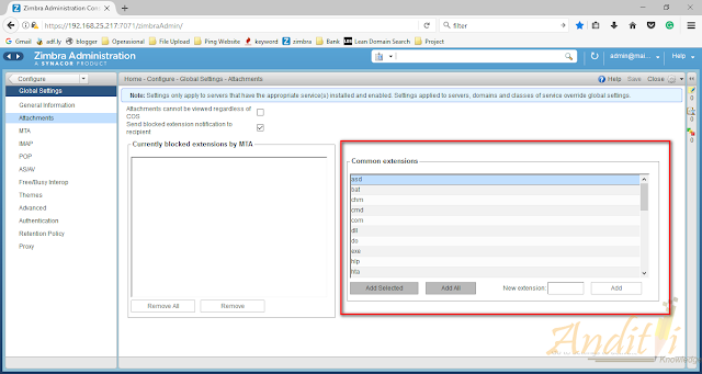 Setting Filter Extension Pada Zimbra Collaboration Server-anditii.web.id