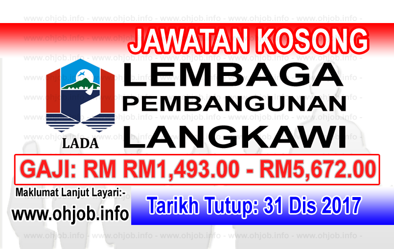 Jawatan Kerja Kosong LADA - Lembaga Pembangunan Langkawi logo www.ohjob.info disember 2017