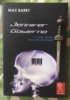 Portada del libro Jennifer Gobierno, de Max Barry