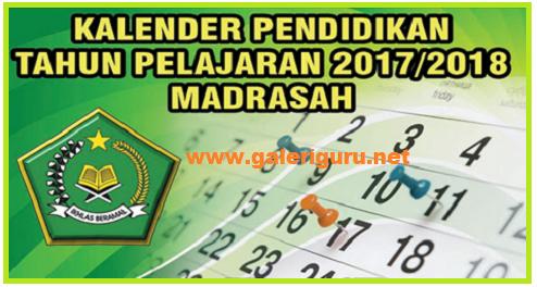Contoh Kalender Pendidikan Sekolah Madrasah Dengan Format Excel