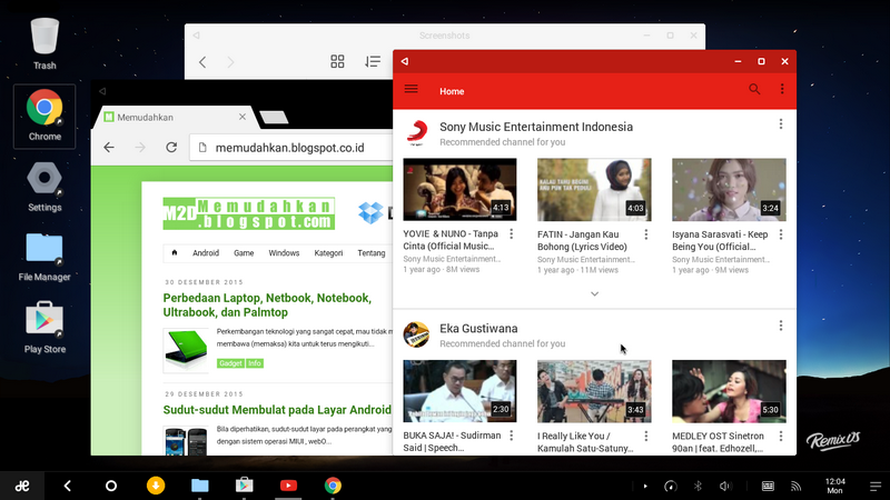 Remix OS for PC Android Memudahkan