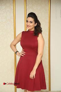 Telugu Tollywood Anchor Manjusha Pos in Red Short Dress  0014.JPG