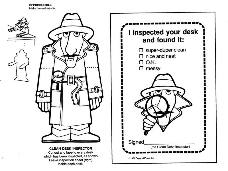 ELEMENTARY SCHOOL ENRICHMENT ACTIVITIES: CLEAN DESK INSPECTOR