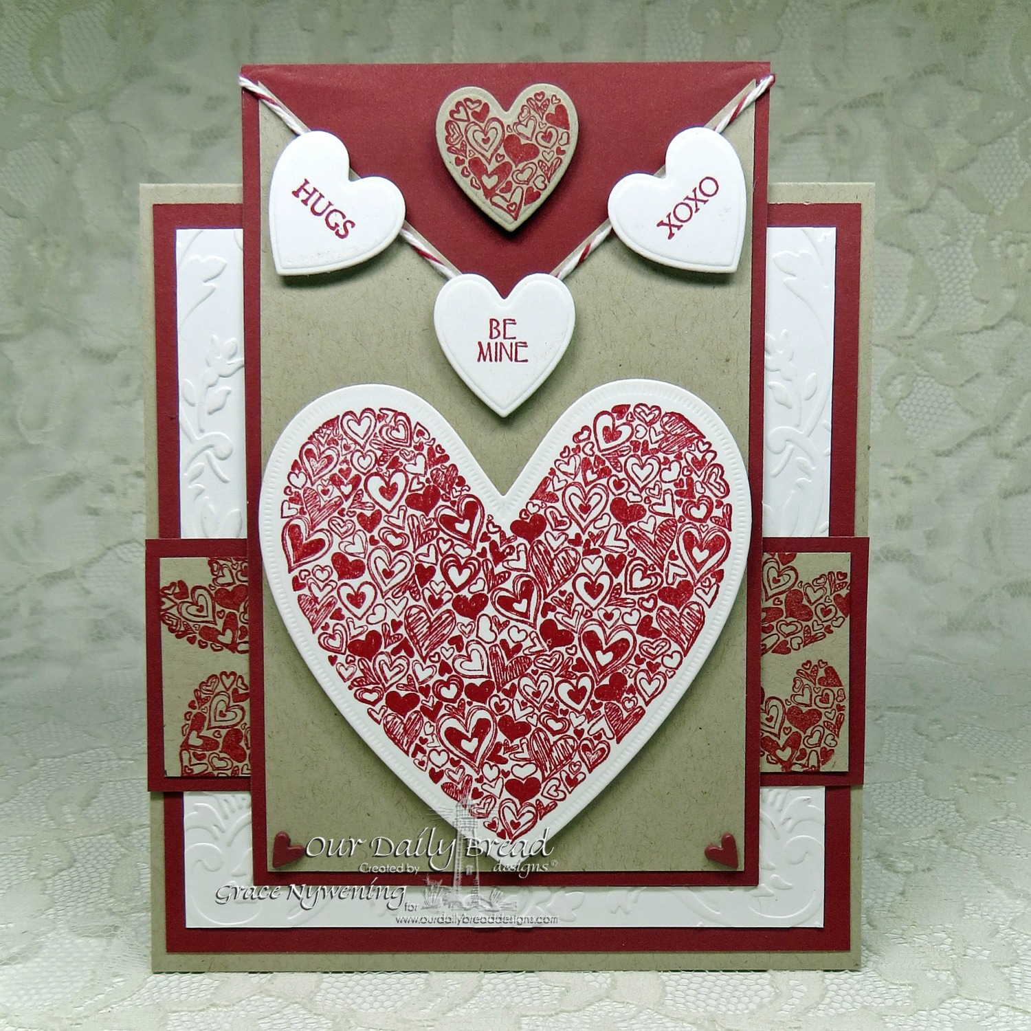 Stamps - Our Daily Bread Designs Heart of Joy, Clean Heart, Be Mine, ODBD Custom Ornate Hearts Die