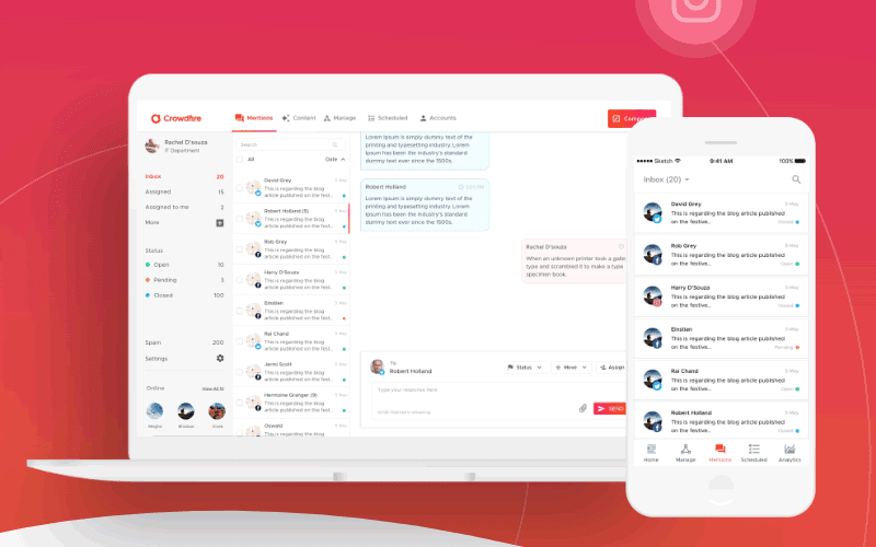 Crowdfire lets you track social mentions