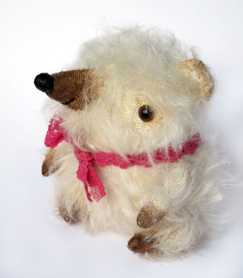 white artist bear mohair miniature small
