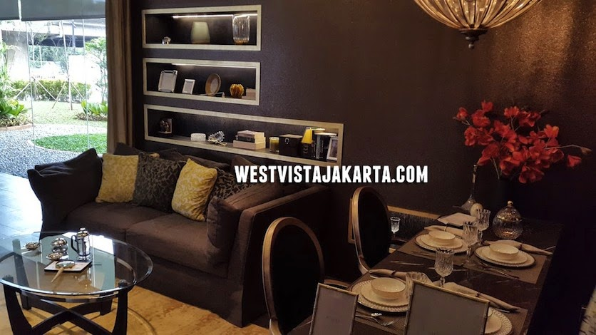 Design Living Room West Vista Jakarta Keppel Land