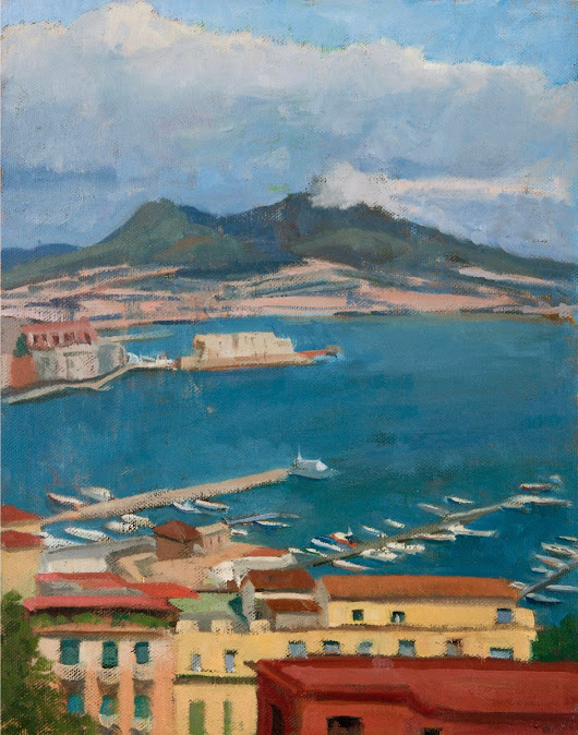 Kelly Medford Painting Blog: The Many Faces of Vesuvius: Painting Views in Naples