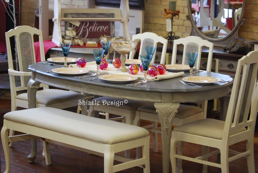Antique French Dining Room Set In ASCP