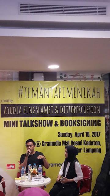 Mini TalkShow & Booksigning Teman Tapi Menikah - Dtito dan Ayudia, LAMPUNG
