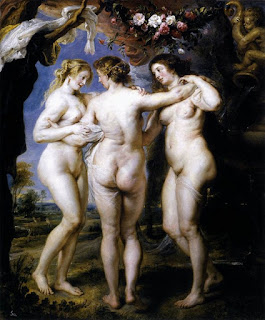 The Three Graces (1639) by the Flemish Painter Peter Paul Rubens (1577-1640)