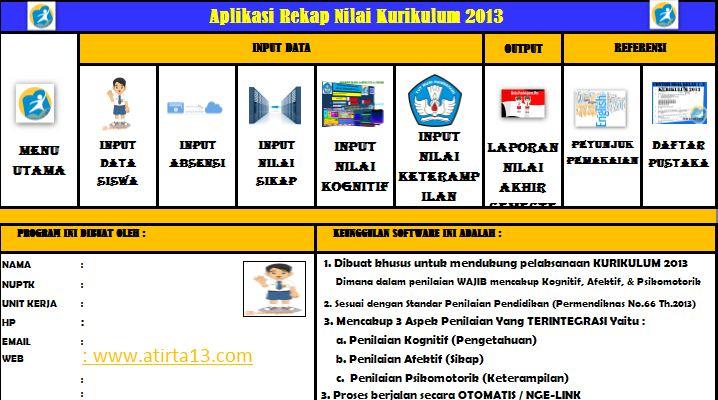 Aplikasi Penilaian Kurikulum 2013 Revisi Terbaru 2016