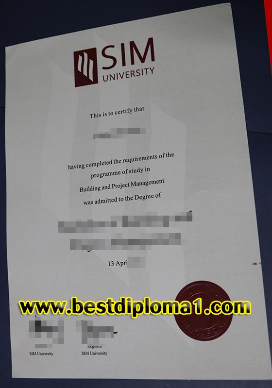 SIM University fake diploma