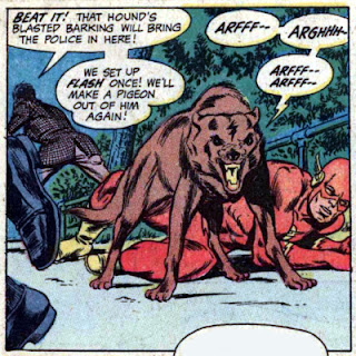 Flash #195, dog rescues the Flash