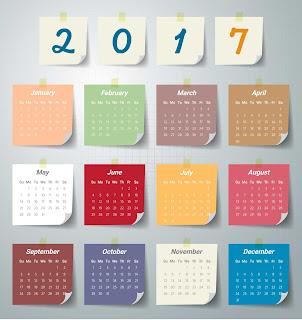 2017カレンダー無料テンプレート182