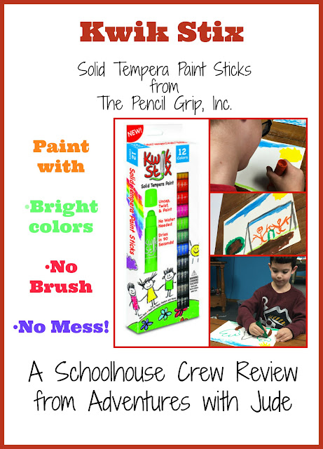 Solid Tempera Paint Sticks; Paint with bright colors, no brush, no mess
